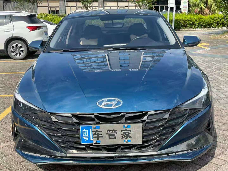 2021年1月北京现代伊兰特1.5L自动GLX精英版